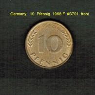 GERMANY    10  PFENNIG  1968 F   (KM # 108) - 10 Pfennig