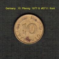 GERMANY    10  PFENNIG  1976 G (KM # 108) - 10 Pfennig