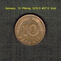 GERMANY    10  PFENNIG  1978 D  (KM # 108) - 10 Pfennig