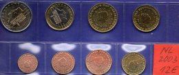 Stempelglanz EURO-set Niederlande 2003 Beatrix Stg 30€ Staatlichen Münze Prägeanstalt Den Haag 1C.-2€ Set Coin Nederland - Netherlands
