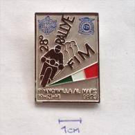 Badge / Pin (Motorcycling) - Italy Francavilla Al Mare 28th Rallye FIM 1973 - Motorbikes