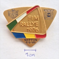 Badge / Pin (Motorcycling) - Romania Neptun 31st Rallye FIM 1976 - Motorbikes