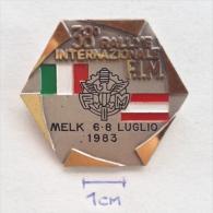 Badge / Pin (Motorcycling) - Austria Melk 38th Rallye FIM 1983 - Motorbikes
