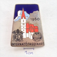 Badge / Pin (Motorcycling) - Austria Bad Aussee 35th International 6 Days Enduro (Internationale Sechstagefahrt) 1960 - Motorbikes