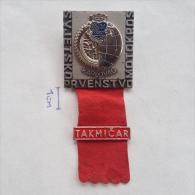 Badge / Pin (Motocross) - Yugoslavia Karlovac World Championship 1971 TAKMICAR (PLAYER) - Motorbikes