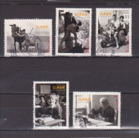 FRANCE / 2002 / Y&T N° 3519/3523 : Photos (5 TP) - Choisis - Tous Cachet Rond - France
