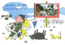 CPSM        La Chasse Est Bonne à Hautefage La Tour        P  1127 - Otros Municipios