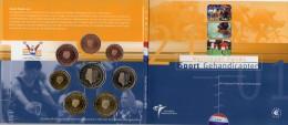Paraolympic Niederlande EURO-set 2001 Stg 30€ Königliche Münze Nederland Den Haag Klappfolder 1C-2€ Set Coins Netherland - Coins