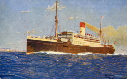 AK Kombischiff Antonio Delfino Ca. 1930 (?) Später: Sierra Nevada Und Empire Halladale Schiff Dampfer Ship Steamer HSDG - Paquebots