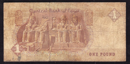 EGYPTE  -   Pick N° 50c - 1 Pound - Très Usagé - Egypte