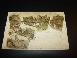 GRUSS AUS DAHN JUNGFERNSPRUNG GRAFENDAHN NEUDAHN VERLAG DOLL 1897 Nach BAD NAUHEIM HOTEL REICHSHOF - Dahn