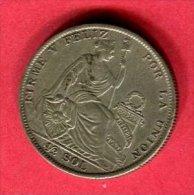 PEROU 1/2 SOL 1926  TTB 19 - Pérou