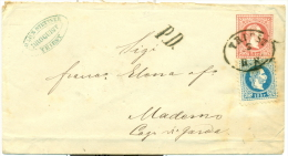 Autriche - No 36 S/ Entier Postal Triest Vers Maderno De Mars 1868, Aff. Complémentaire, PD, See Scan - 1850-1918 Empire