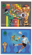 Libya 1982, Worl Cup Foot-Ball Spain, Souvenir Sheets IMPERFORATED,limited Issue MNH- Rare Topical Sh.-SKRILL PAY - Libya