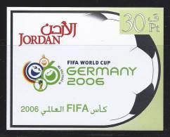 Jordanie Jordan 2006 Bloc 96** MNH FOOTBALL - Giordania