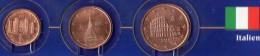 Kleinmünzen-Set EURO Aus Italien 2002-2013 Stg 4€ Der Prägeanstalt In Rom Kleinmünzen-Satz With 1, 2, 5C. Coins Of Italy - Italy