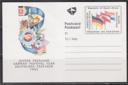 = Carte Postale, Entier Neuf, 1 Timbre, 1992, Festival Allemand - Afrique Du Sud (1961-...)