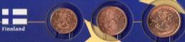 Kleinmünzen-Set EURO Finnland 1999-2013 Stg. 6€ Der Prägeanstalt Helsinki Kleinmünzen-Satz With 1,2,5C. Coins Of FINLAND - Finland