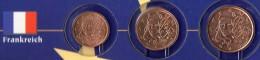 Kleinmünzen-Set EURO Frankreich 1999-2013 Stg. 4€ Der Prägeanstalt Paris Kleinmünzen-Satz With 1, 2, 5C. Coins Of FRANCE - France