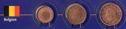 Kleinmünzen-Set EURO Belgien 1999-2013 Stg. 5€ Der Prägeanstalt Brüssel Kleinmünzen-Satz With 1, 2, 5C. Coins Of Belgica - Belgium