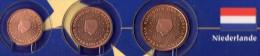 Kleinmünzen-Set EURO Niederlande 1999-2013 Stg 4€ Der Prägeanstalt Den Haag Kleinmünzen-Satz With 1,2,5C. Coin Nederland - Netherlands
