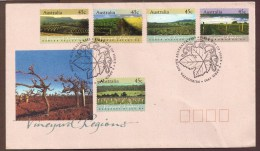 AUSTRALIA VINEYARD REGIONS 9 APR 1992  FIRST DAY OF ISSUE - Premiers Jours (FDC)