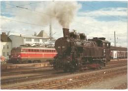 TRAIN Autriche - EISENBAHN Österreich - STRAßHOF - Zahnrad-Dampflokomotive 197.301 Und Elektro-Lokomotive 1042-532 (gare - Gares - Avec Trains