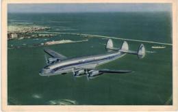 Thème -  Avion -  Lockheed Constellation En Service Sur Les Ligens AIr France - Survol De La Rade De Casablanca - Havas - 1946-....: Moderne