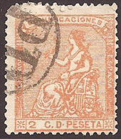 ESPAÑA 1873 - Edifil #131 Marca Francesa - VFU - 1872-73 Reino: Amadeo I