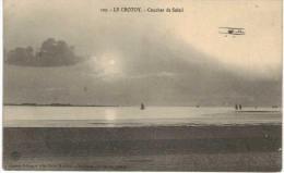 Le Crotoy Coucher De Soleil (avec Avion Bi-plan) - Le Crotoy