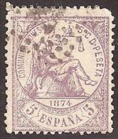 ESPAÑA 1874 - Edifil #144 - VFU - 1873-74 Regencia
