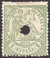 ESPAÑA 1874 - Edifil #150T Taladrado - 1873-74 Regencia