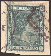 ESPAÑA 1875 - Edifil #170T - VFU - 1875-1882 Regno: Alfonso XII