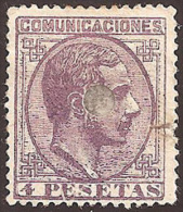 ESPAÑA 1878 - Edifil  Esp. # 198T - Precio Cat. €26 - 1875-1882 Reino: Alfonso XII