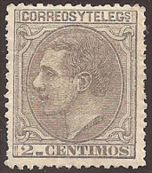 ESPAÑA 1879 - Edifil #200 Sin Goma (*) - Unused Stamps