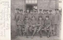 Photocarte Allemande-Militaires Allemands Pose Photo (guerre 14-18) 2scans - Weltkrieg 1914-18