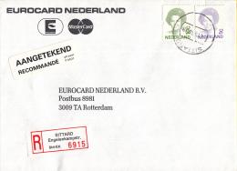 Nederland - Aangetekend/Recommandé Brief Vertrek Sittard - Aantekenstrookje Sittard Engelenkamptr. 6915 - Poststempels/ Marcofilie