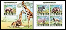 NIGER 2013 - Large Mammals M/S + S/S. Official Issue - Niger (1960-...)