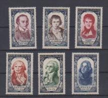 Célébrités Du XVIII Siècle //   N 867à 872 //  Neuf**  // Côte 90€ - Unused Stamps