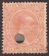 ESPAÑA 1889/99 - Edifil Esp. # 228T- Precio Cat. €19,50 - 1889-1931 Kingdom: Alphonse XIII