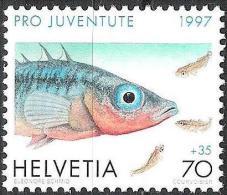Suisse PJ 1997: Gasterosteus Aculeatus Zu 345 Mi 1630 Yv 1558 ** MNH Zum Postpreis - à Prix Postale - Fische
