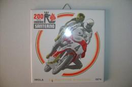 PFR/48 PIASTRELLA COMM.SANTERNOCERAMICA-MOTOCICLISMO-200 MILES IMOLA 1974 AGV-LA DAYTONA D'EUROPA - Sport