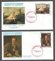 REPUBLIC OF CAMEROON CAMEROUN  2 X  FDC PREMIER JOUR  10.9.1984 LES GRANDS PEINTRES GREAT ARTISTS - Cameroun (1960-...)