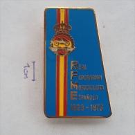 Badge / Pin (Motorcycling) - Spain Real Federacion Motociclista Espanola (Spanish Royal Motorcycle Federation) - Motorbikes