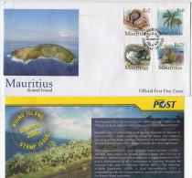 Mauritius 2005 FDC Endemic Fauna Flora Round Island Nature Reserve Keel Scale Boa Palm Bird Birds Mazambron - Snakes