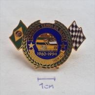 Badge / Pin (Car Racing) - Brasil (Brazil) Formula 1 FIA Ayrton Senna Da Silva - Car Racing - F1