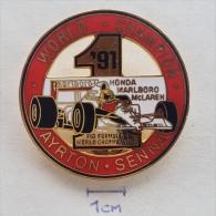 Badge / Pin (Car Racing) - Brasil Brazil Formula 1 FIA Ayrton Senna Da Silva Honda Marlboro McLaren WORLD CHAMPION 1991 - Car Racing - F1