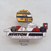 Badge / Pin (Car Racing) - Brasil (Brazil) Formula 1 FIA Ayrton Senna Da Silva MCLAREN FORD - Car Racing - F1
