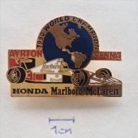 Badge / Pin (Car Racing) - Brasil Brazil Formula 1 FIA Ayrton Senna Da Silva Honda Marlboro McLaren WORLD CHAMPION 1990 - Car Racing - F1
