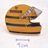 Badge / Pin (Car Racing) - Brazil (Brasil) Formula 1 FIA Ayrton Senna Da Silva ELF RENAULT NACIONAL - Car Racing - F1